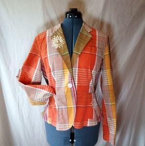 Upcycled Isaac Mizrahi Blazer Jacket